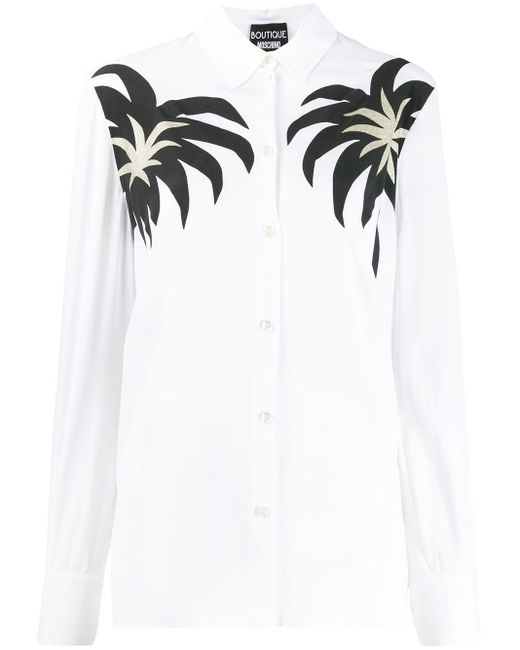 Boutique Moschino プリント シャツ White