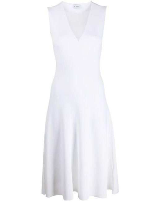 Ferragamo メッシュパネル ドレス White