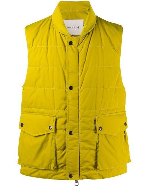 メンズ Mackintosh Henting ナイロンジレ Yellow