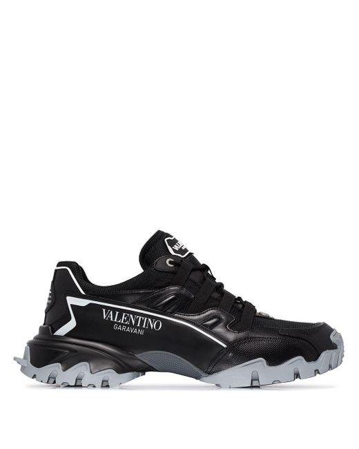 メンズ Valentino Garavani Valentino Garavani Climbers ファブリック&レザー スニーカー Black