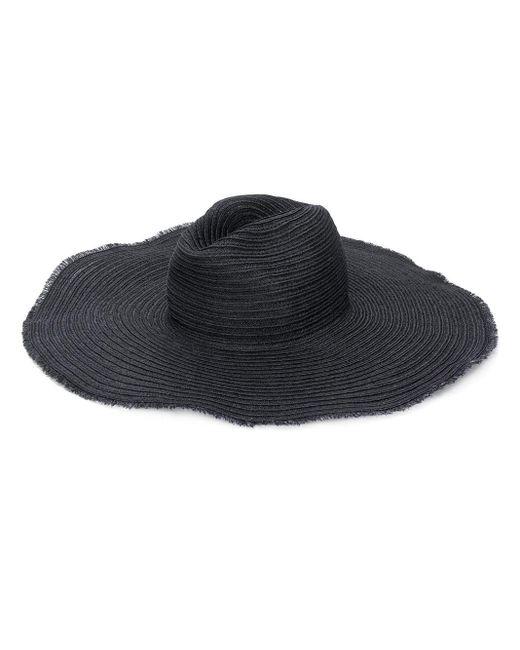 Emporio Armani Black Frayed Edge Hat