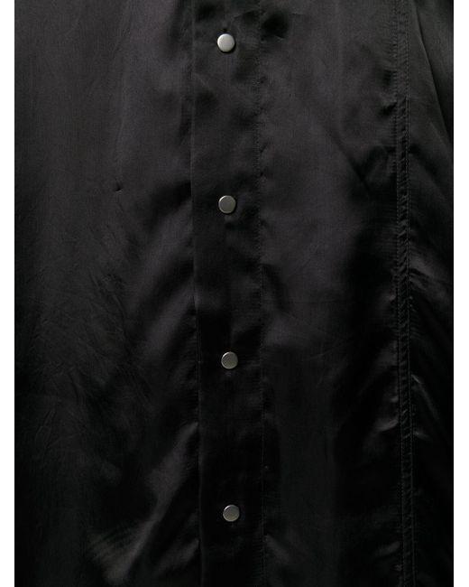 Rick Owens Black Hemd ohne Kragen