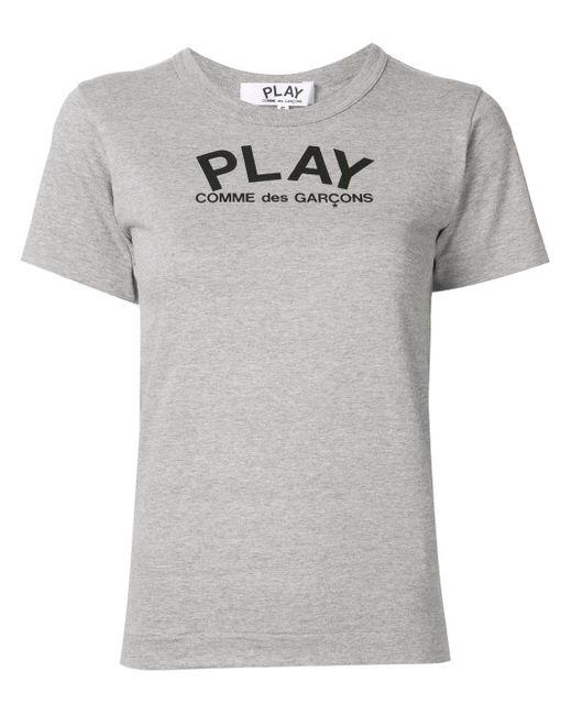 COMME DES GARÇONS PLAY リラックスフィット Tシャツ Gray