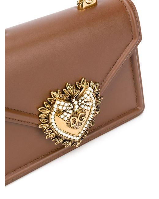 Dolce & Gabbana Devotion ハンドバッグ S Brown