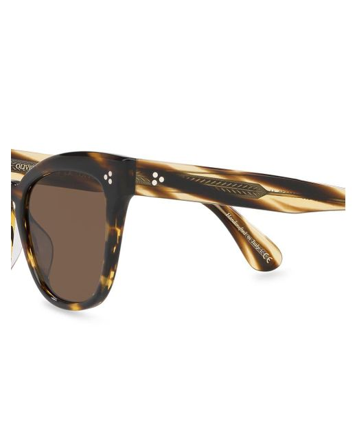 Oliver Peoples Women's Brown Marianela Square Sunglasses