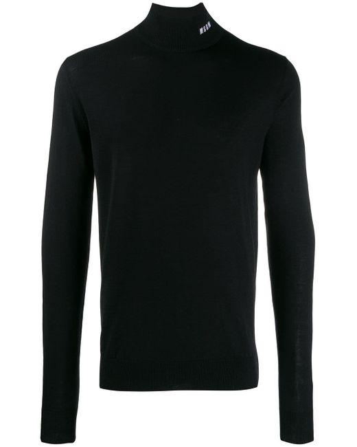 メンズ MSGM タートルネックセーター Black