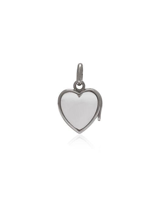 Loquet London Small Heart Locket ネックレス 18kホワイトゴールド Multicolor