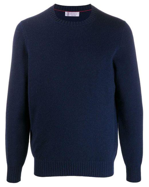 メンズ Brunello Cucinelli クルーネック セーター Blue