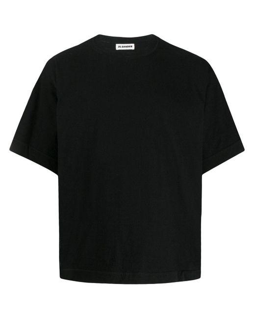 メンズ Jil Sander ボクシーフィット Tシャツ Black