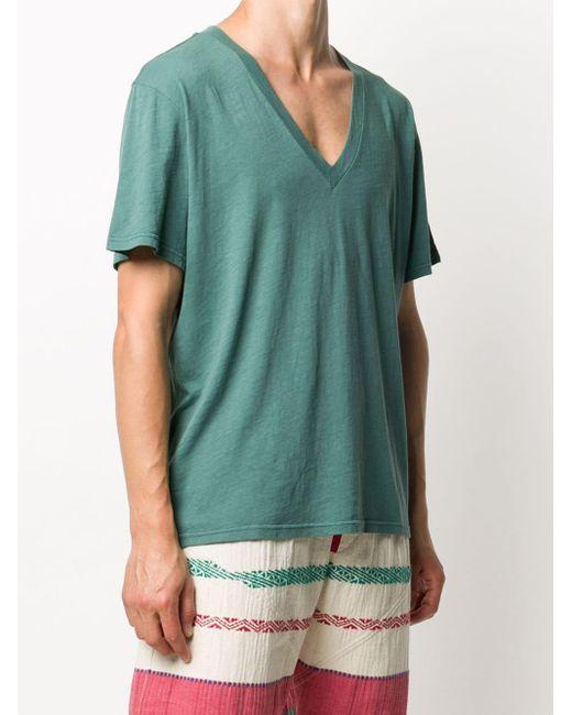 メンズ Isabel Marant Landyh コットン Tシャツ Green