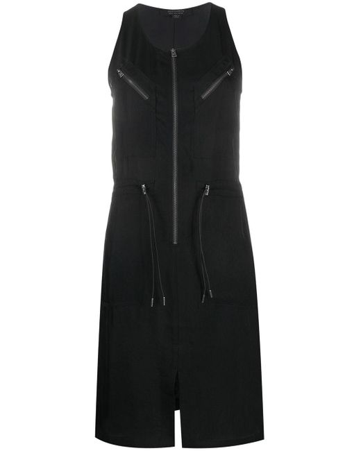 AllSaints ドローストリングウエスト ドレス Black