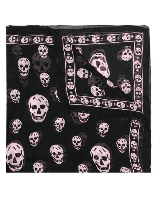 Alexander McQueen スカルパターン スカーフ Black
