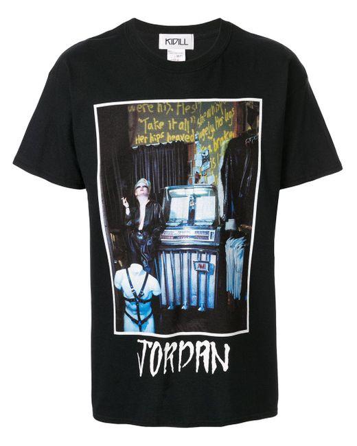 メンズ Kidill グラフィック Tシャツ Black