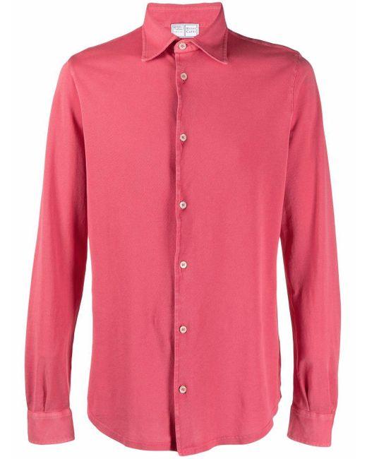 メンズ Fedeli ボタン シャツ Pink