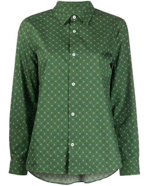 A.P.C. Camisa Mirielle con botones de mujer de color verde w2TgL