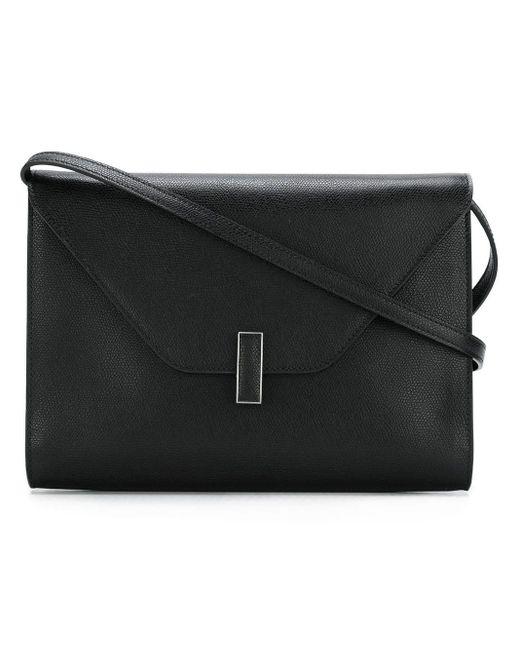 Valextra Black Envelope Crossbody Bag