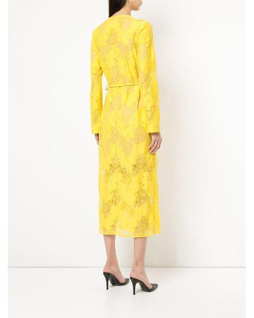 lace maxi wrap dress - Yellow & Orange GOEN.J Websites Cheap Price F9R3O