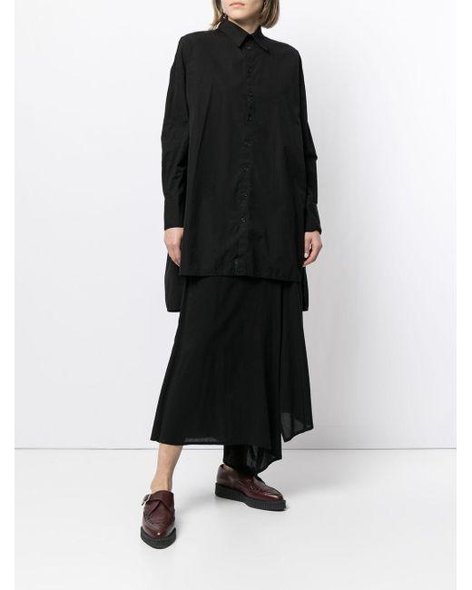Yohji Yamamoto チュニックシャツ Black