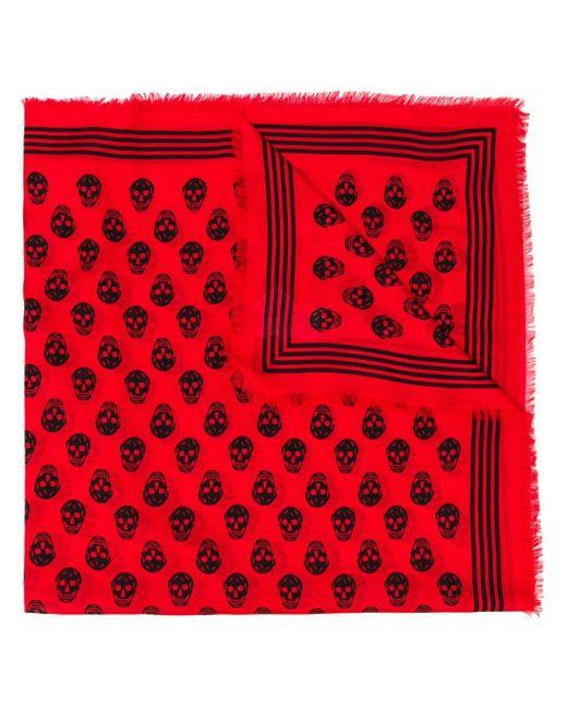Alexander McQueen スカル スカーフ Red
