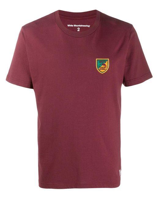 メンズ White Mountaineering エンブレムモチーフ Tシャツ Multicolor