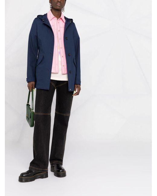 Woolrich フーデッド シングルジャケット Blue