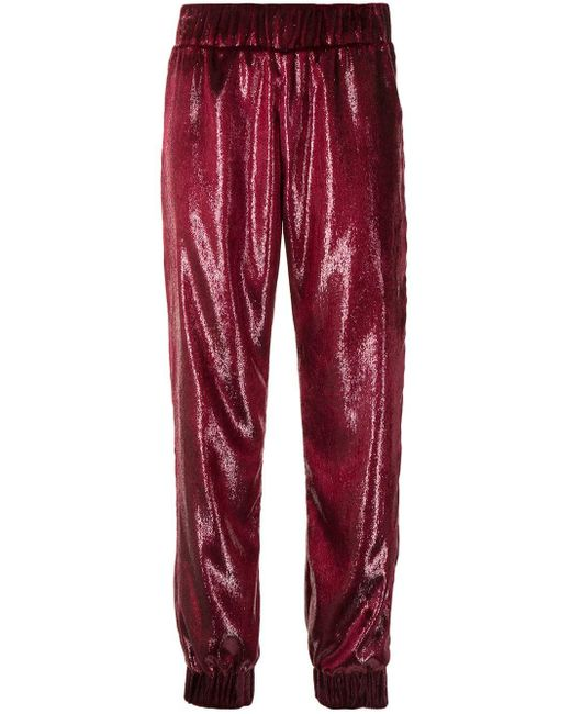 Haney Red Shelly Tracksuit Bottoms