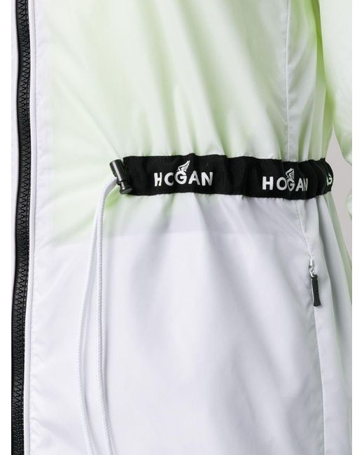 Hogan ドローストリング パーカーコート White