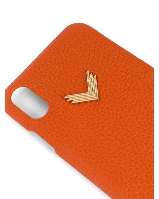 Manokhi Iphone Xs Max ケース Orange