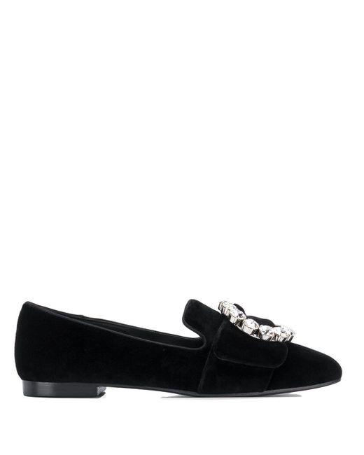 Dolce & Gabbana Loafers Met Gespdetail in het Black