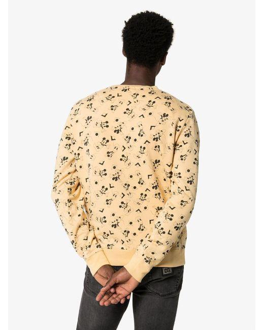 Saint Laurent Sweatshirt mit Mickey Maus-Print in Yellow für Herren