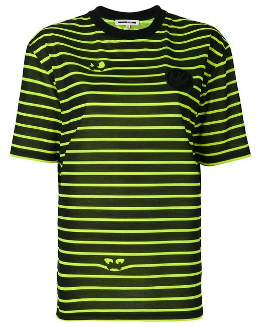McQ Alexander McQueen - Black Striped Eyes T-shirt - Lyst