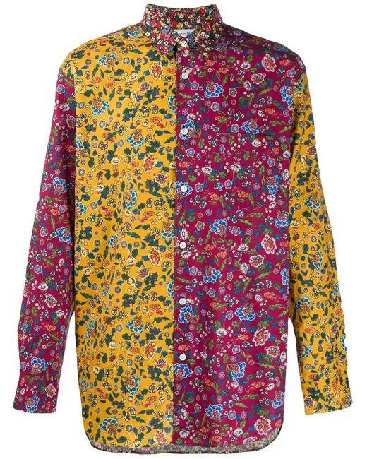 メンズ Comme des Garçons コットンポプリンシャツ Yellow