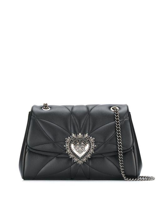 Dolce & Gabbana Devotion ショルダーバッグ L Black