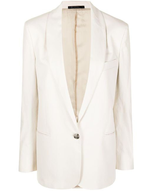 Paul Smith Natural Shawl-lapel Cotton Blazer