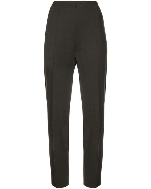 Tapered trousers Piazza Sempione en coloris Brown