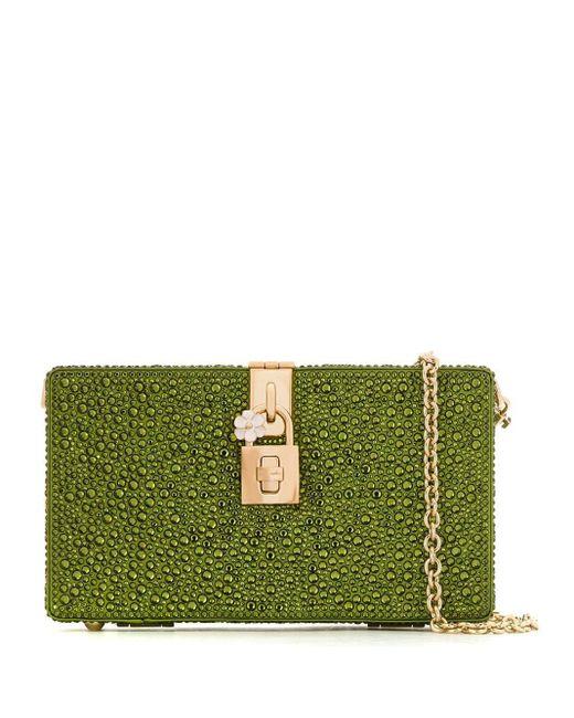 Dolce & Gabbana クリスタル クラッチバッグ Green