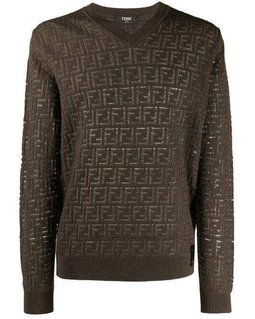 メンズ Fendi Ff ロゴ セーター Multicolor