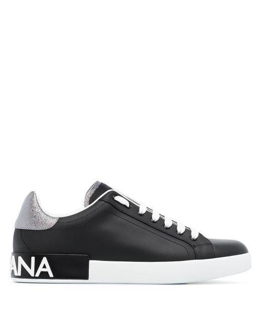 メンズ Dolce & Gabbana ブラック And ホワイト Portofino スニーカー Black