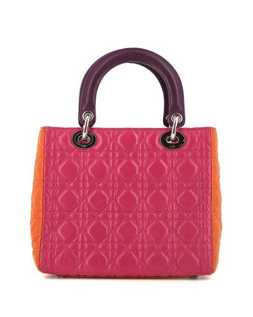 Dior プレオウンド レディ ディオール ハンドバッグ Pink