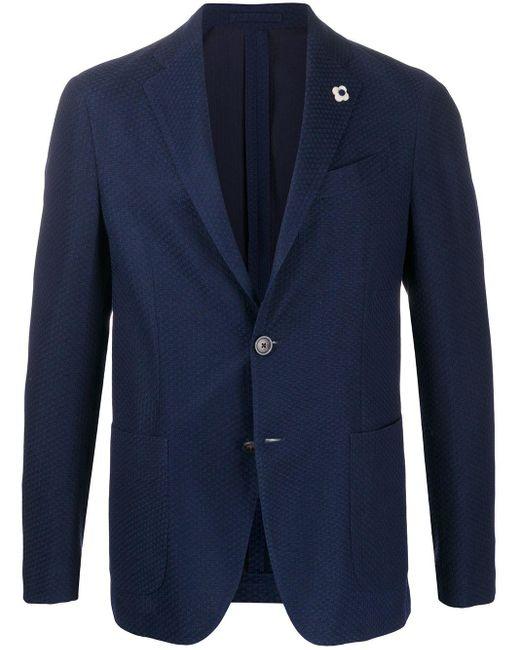 メンズ Lardini テーラードジャケット Blue