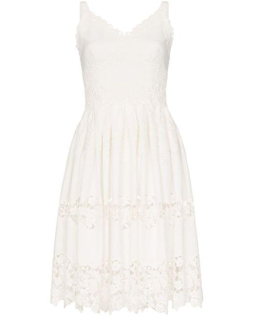 Dolce & Gabbana フローラル ミディドレス White