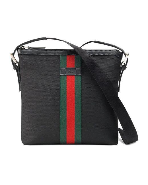 Gucci - Multicolor Web Techno Canvas Small Messenger Bag for Men - Lyst