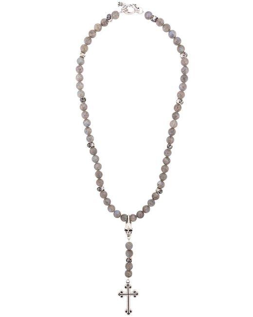 Collier en perle à pendentif King Baby Studio pour homme en coloris Metallic