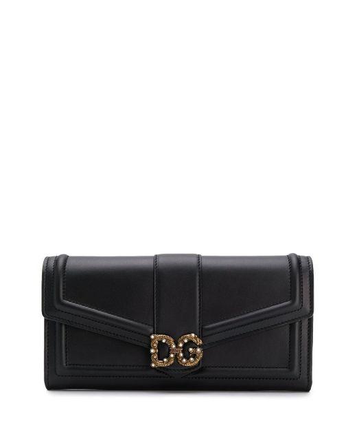 Dolce & Gabbana Dg Amore フラップ長財布 Multicolor