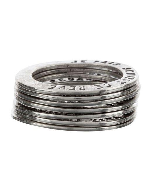 Thoraval - Metallic Set Of Rings - Lyst