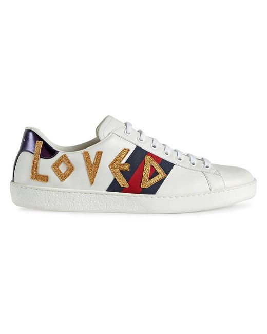 bbcb1f079d5 Gucci Ace Embroidered Sneaker in White for Men - Save 2% - Lyst