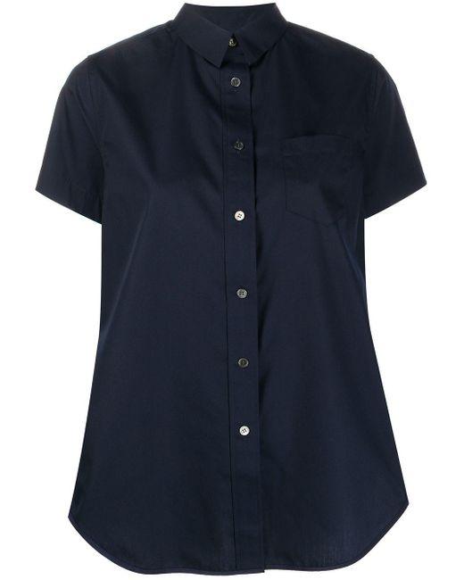 Sacai オーバーサイズ シャツ Blue