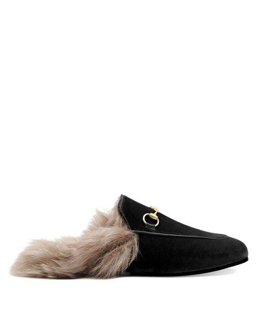 Gucci Slippers Van Princetown in het Brown