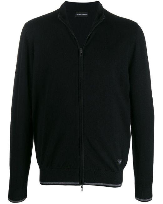 メンズ Emporio Armani ジップ スウェットシャツ Black