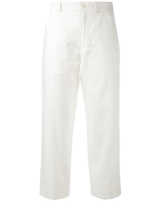 Chloé - White Cropped Trousers - Lyst